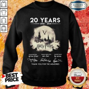 Apprehensive 20 Years 2001 2021 Harry Potter Thank You For The Memories Signatures Sweatshirt - Design by Eushirt.com