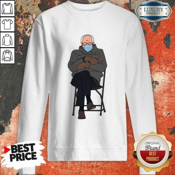 Ashamed Bernie Sanders Meme 4 Inauguration Day Sweatshirt - Design by Eushirt.com