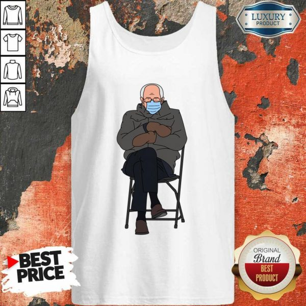 Ashamed Bernie Sanders Meme 4 Inauguration Day Tank Top - Design by Eushirt.com
