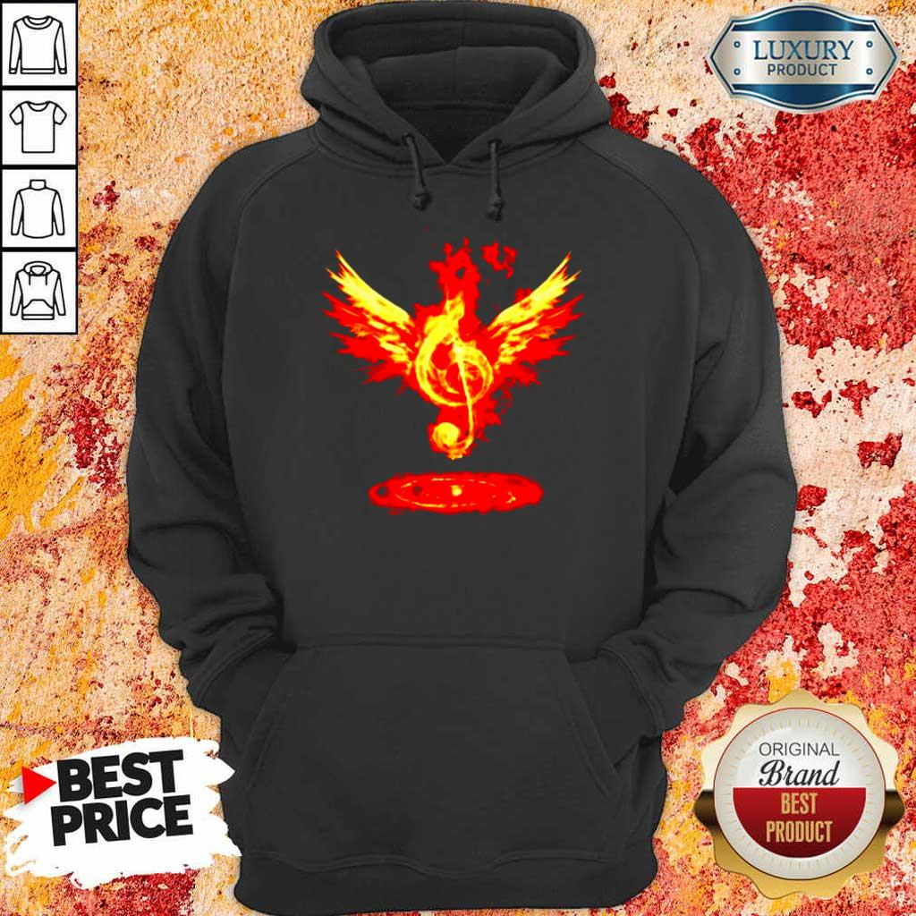 Cheated 4 Music Note Fire Angel Hoodie