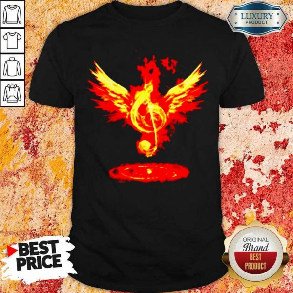 Cheated 4 Music Note Fire Angel Shirt