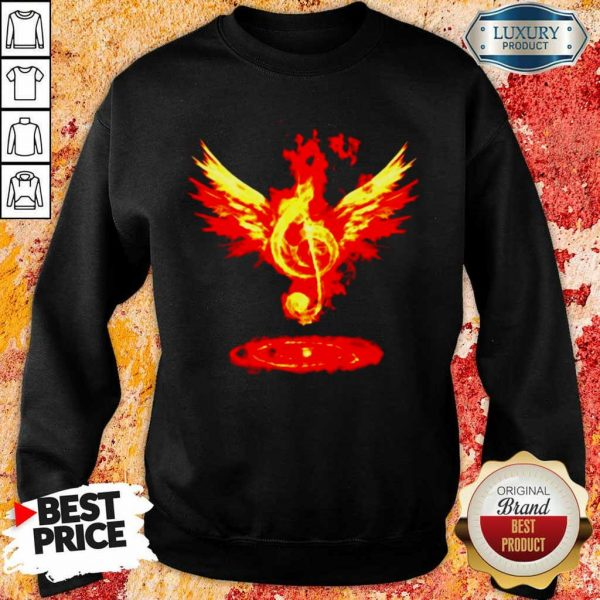 Cheated 4 Music Note Fire Angel Sweatshirt