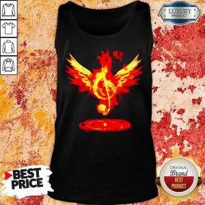 Cheated 4 Music Note Fire Angel Tank Top