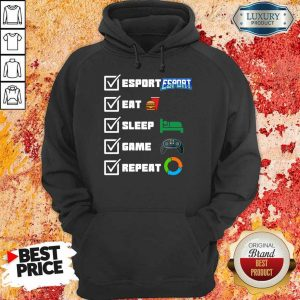 Cross Esport Eat Sleep Game Repeat 3 Hoodie