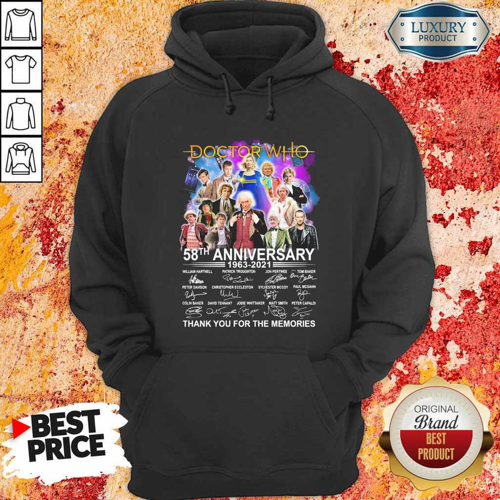 Great Doctor Who Movies 58 Anniversary 1963 2021 Hoodie