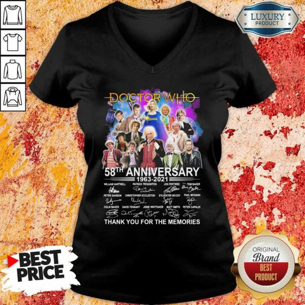 Great Doctor Who Movies 58 Anniversary 1963 2021 V-neck