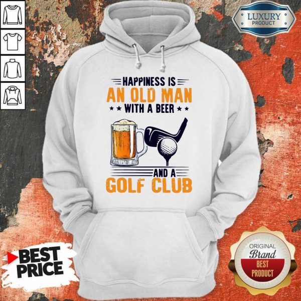 Great Is An Old Man With A Beer And A Golf Club 8 Hoodie