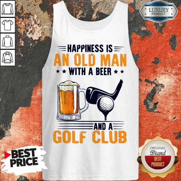 Great Is An Old Man With A Beer And A Golf Club 8 Tank Top