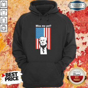 Happy Miss Me Yet Trump 1 American Flag Hoodie - Design by Eushirt.com