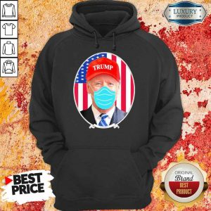 Amused Joe Biden Hat Trump Mask 2 Hoodie