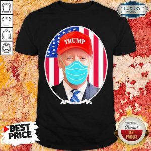 Amused Joe Biden Hat Trump Mask 2 Shirt
