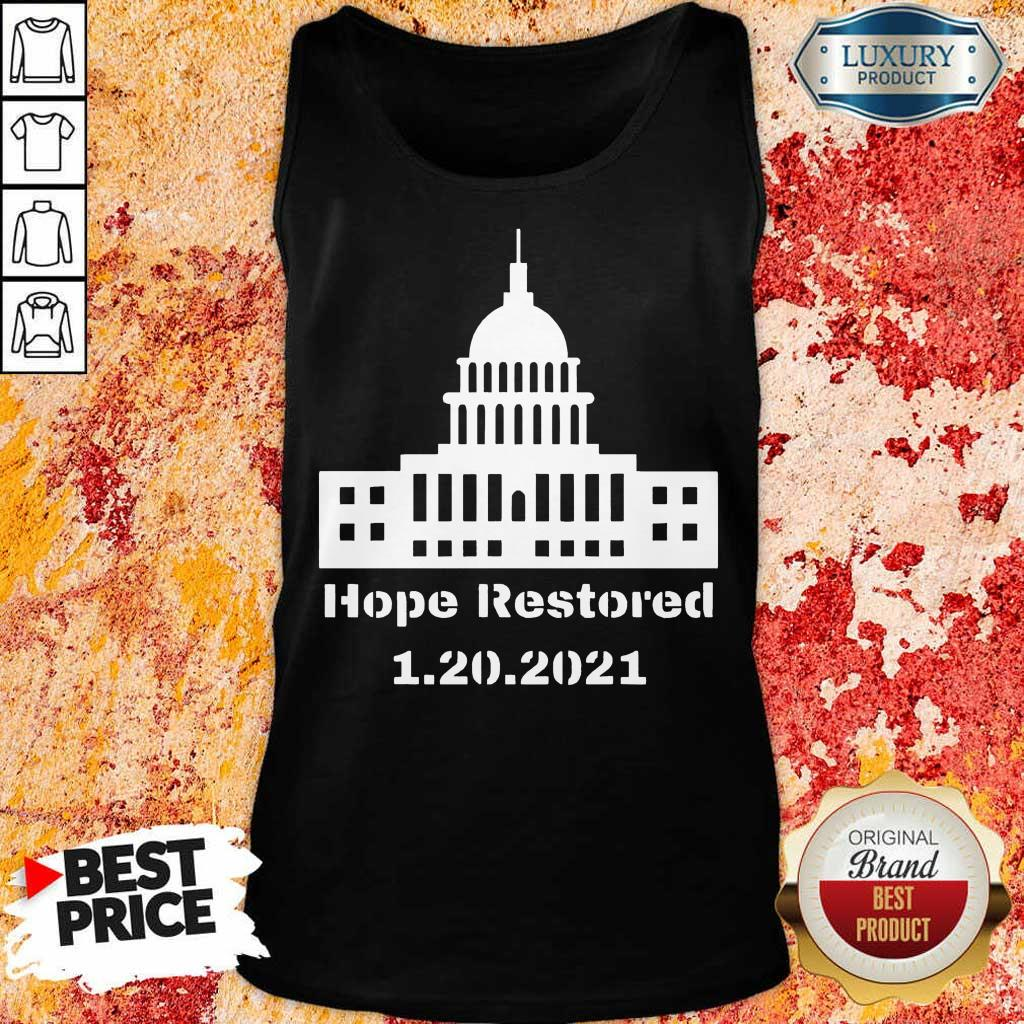 Malicious Hope Restored 1 To The White House Tank Top - Design by Eushirt.com