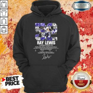 Thoughtful 52 Ray Lewis Linebacker Thanks For The 2 Memories Hoodie - Design by Eushirt.com