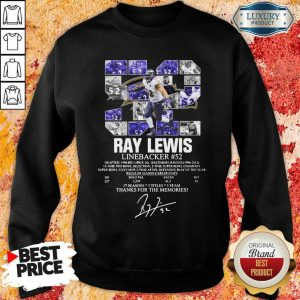 Thoughtful 52 Ray Lewis Linebacker Thanks For The 2 Memories Sweatshirt - Design by Eushirt.com