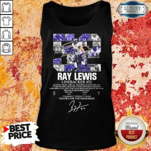 Thoughtful 52 Ray Lewis Linebacker Thanks For The 2 Memories Tank Top - Design by Eushirt.com