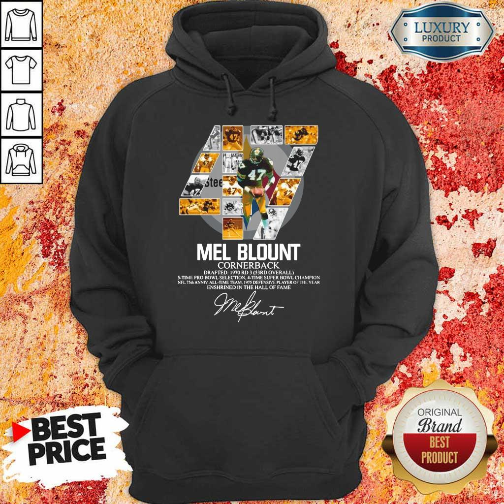 Upset 47 Mel Blount Cornerback Enshrined The Hall Of Fame 1 Signature Hoodie - Design by Eushirt.com