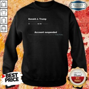 Upset Trump Twitter Account 6 Sweatshirt