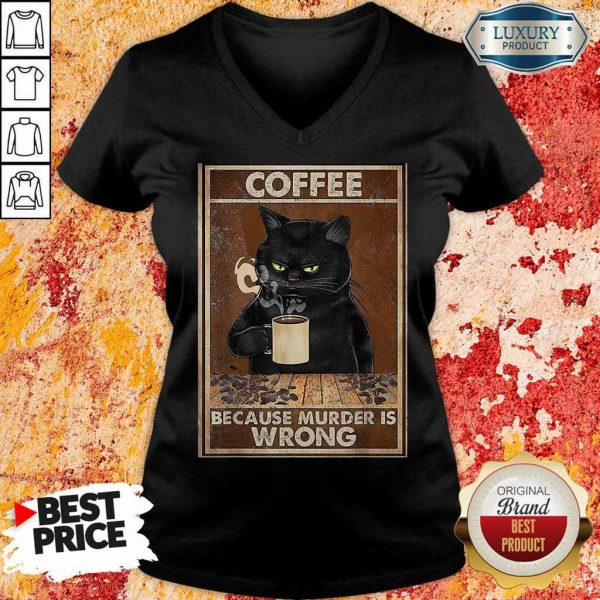 8 Black Cat Drink Just Is the Wrong V-Neck