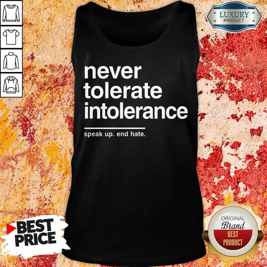 Awesome Never Tolerate Intolerance Tank Top