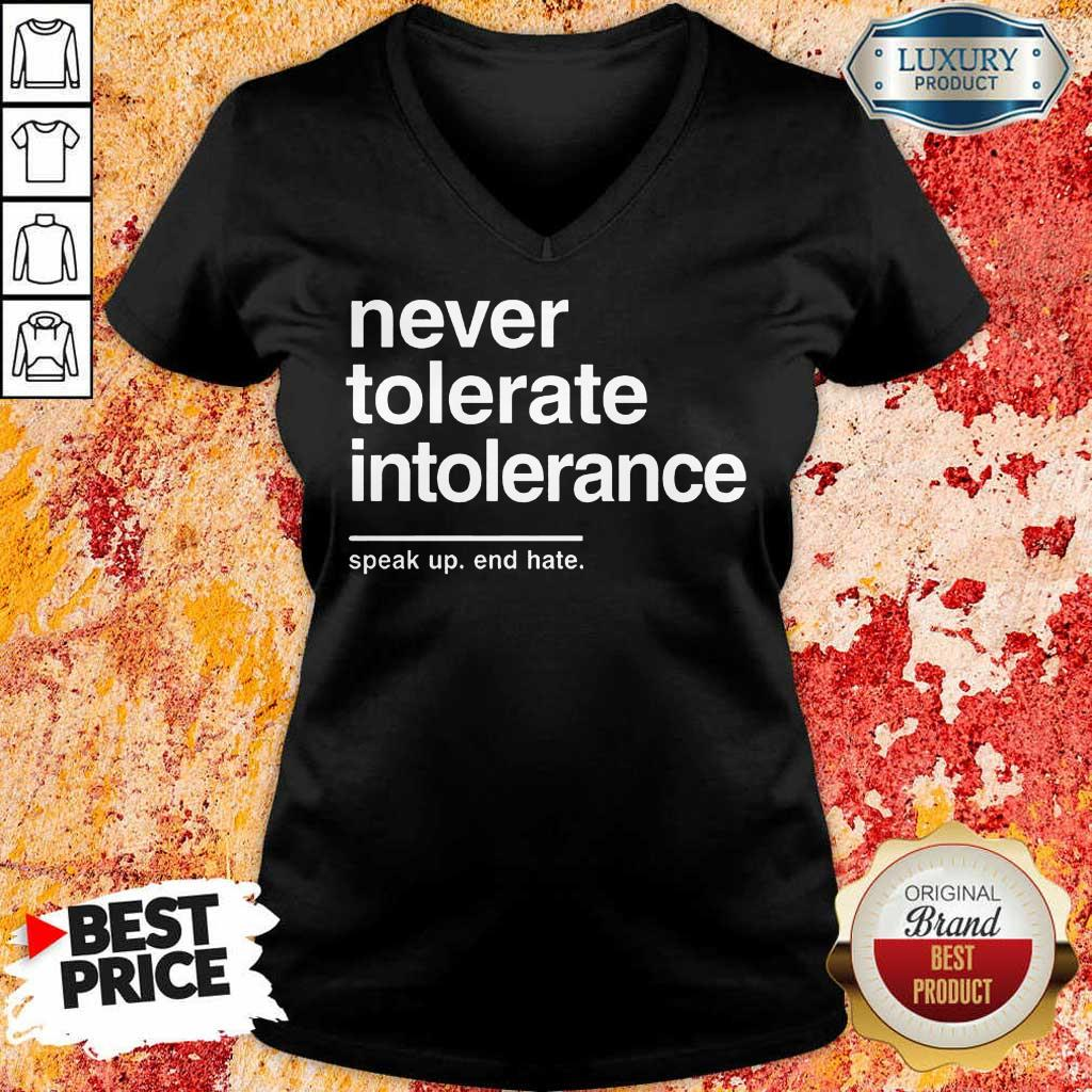 Awesome Never Tolerate Intolerance V-Neck