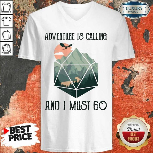 Confident 14 Adventure Is Calling V-Neck