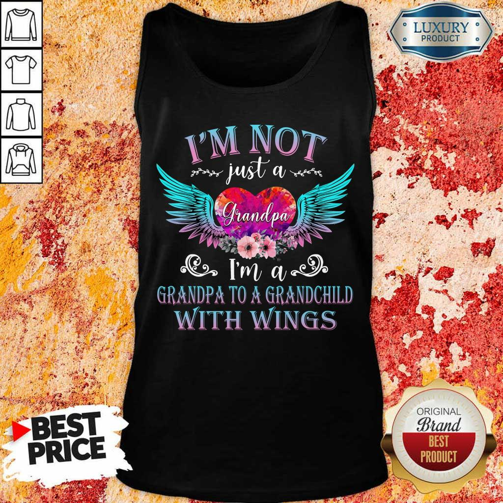 Good I Am Not Just A Grandpa With Wings Tank Top