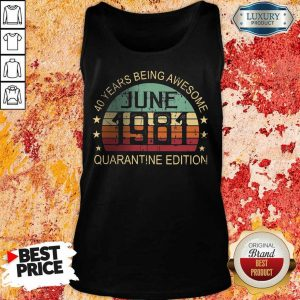 Official 40 Years Being Quarantine Tank Top