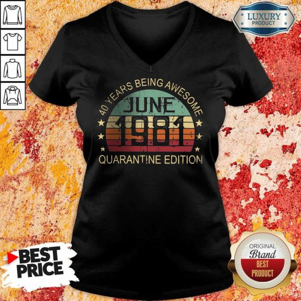 Official 40 Years Being Quarantine V-Neck