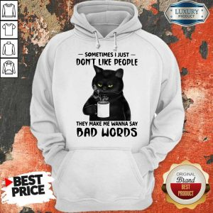 Official Black Cat They Say Bad Words Hoodie