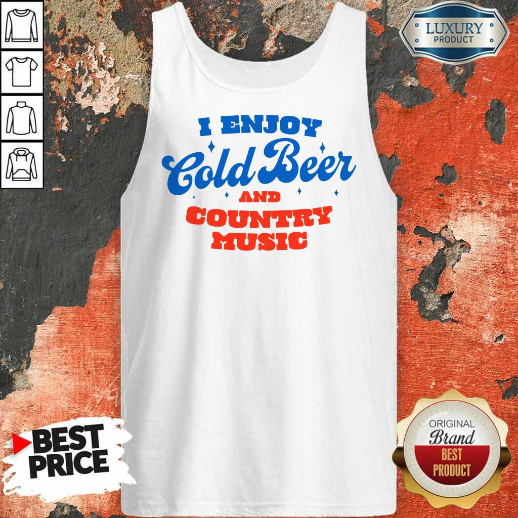 Awesome I Enjoy Cold Beer And Country Music Tank Top