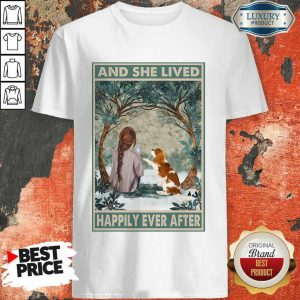 Good Spaniel Dog And She Lived Happily Ever After Poster ShirtGood Spaniel Dog And She Lived Happily Ever After Poster Shirt