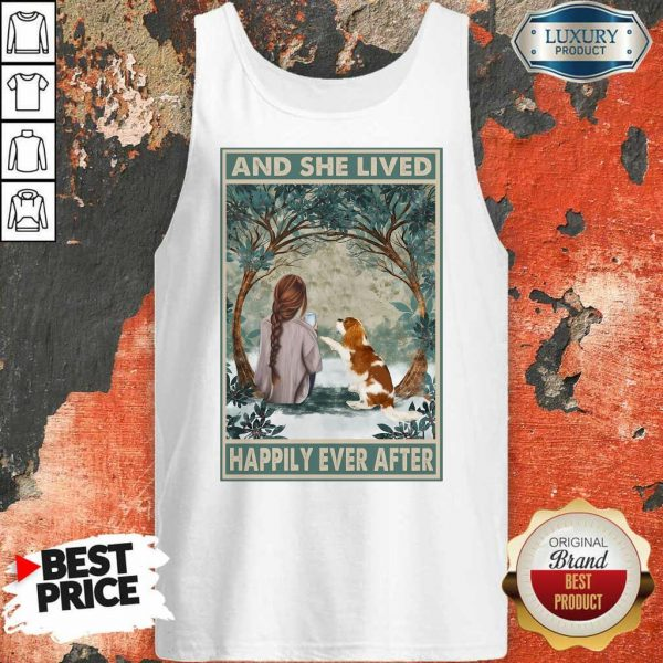 Good Spaniel Dog And She Lived Happily Ever After Poster ShirtGood Spaniel Dog And She Lived Happily Ever After Poster Tank Top