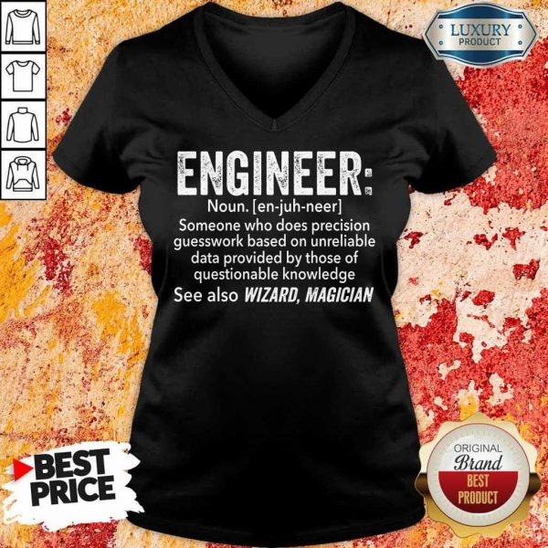 Top Engineer See Also Wizard Magician V-Neck