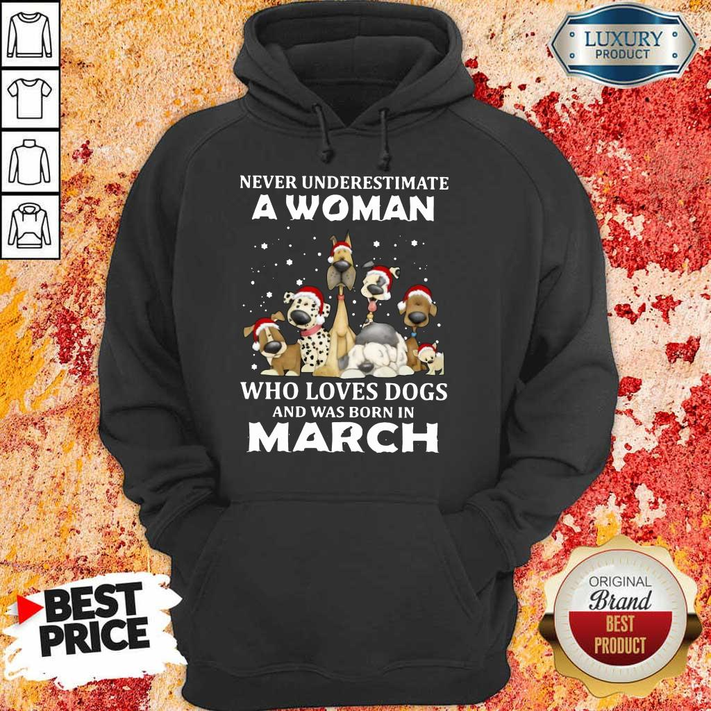 A Woman Who Love Dogs March Hoodie