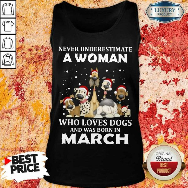 A Woman Who Love Dogs March Tank Top