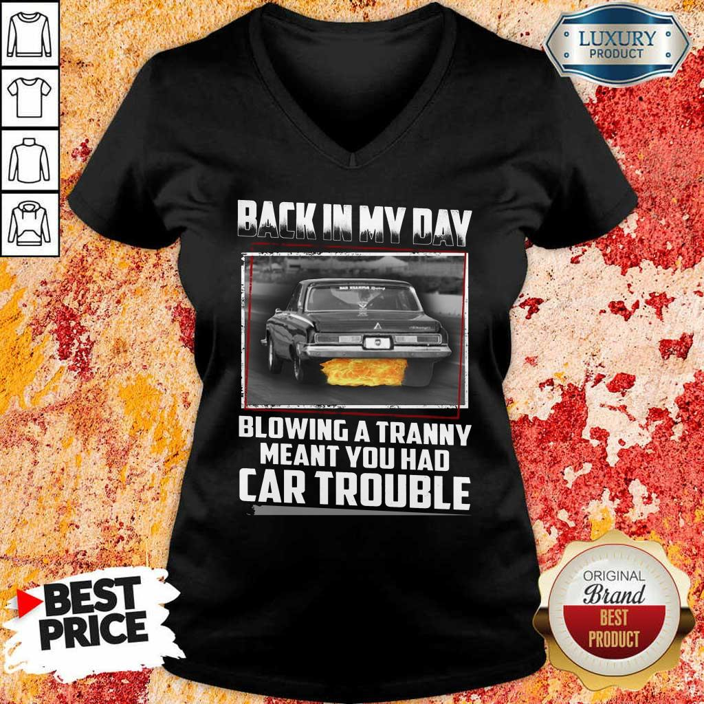 Back In My Day Car Trouble V-Neck