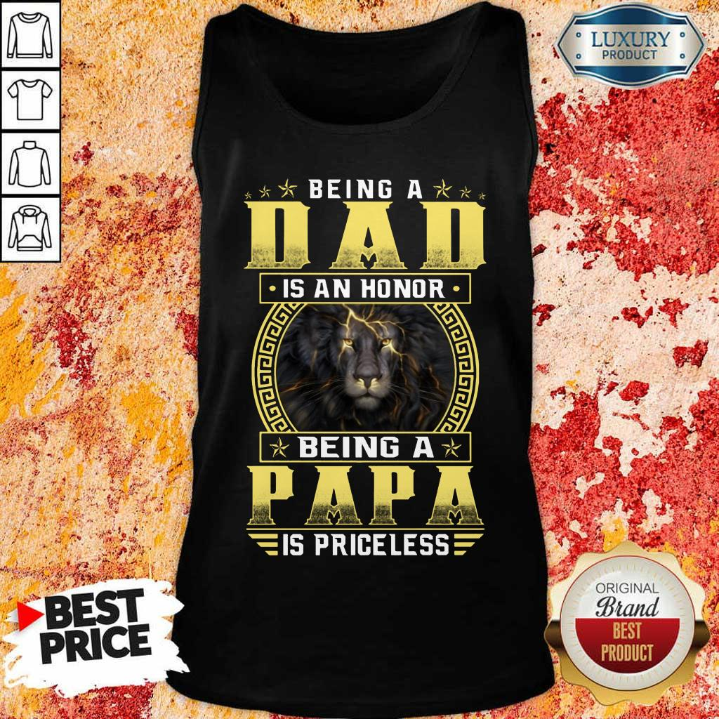 Being A Papa Is Priceless Lion Tank Top