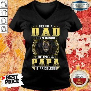 Being A Papa Is Priceless Lion V-Neck