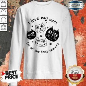 I Love My Cat For All The Little Reasons Sweatshirt