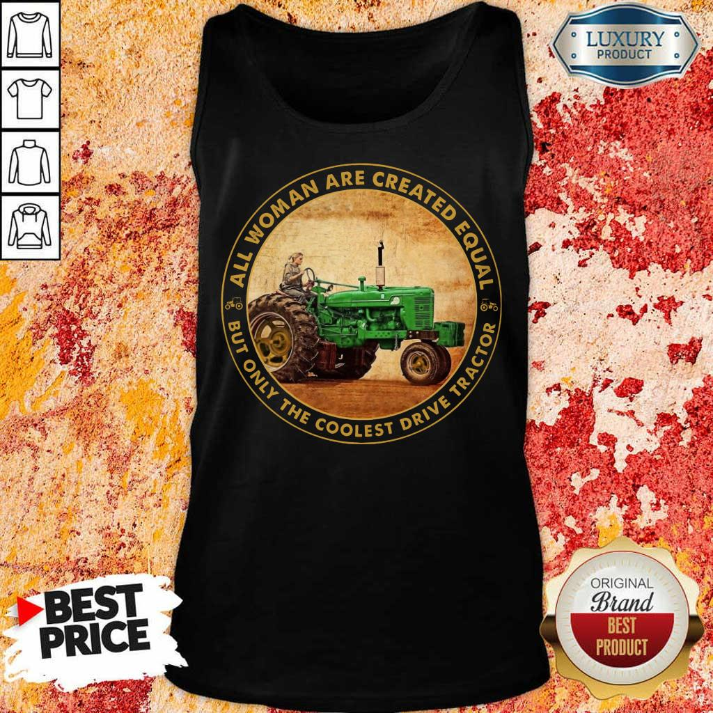 All Woman Created Equal Drive Tractor Tank Top