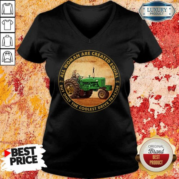 All Woman Created Equal Drive Tractor V-Neck