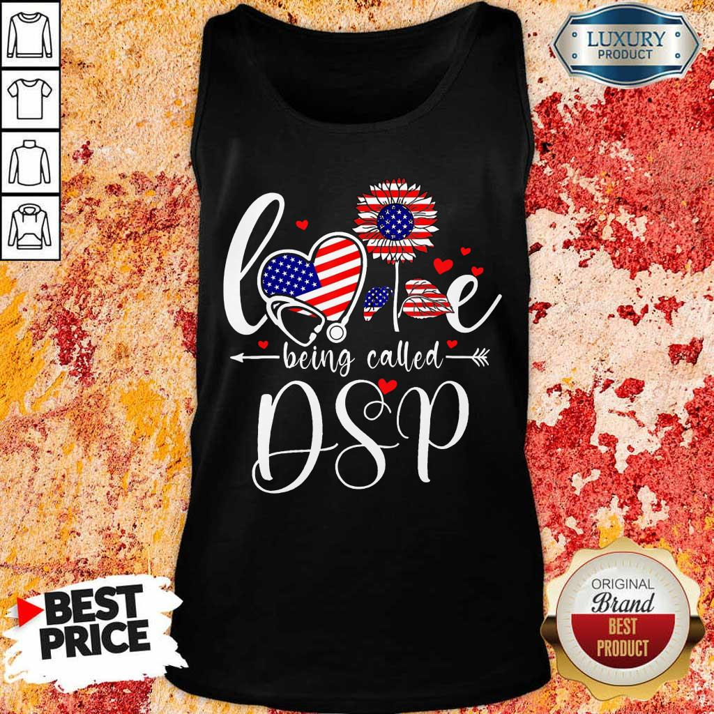American Flag Sunflower Love Being Called DSP Tank Top