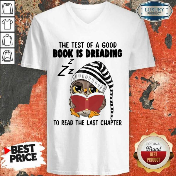 Book Is Reading Owl V-Neck