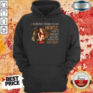 I Already Spoke To My Horse For Today Hoodie