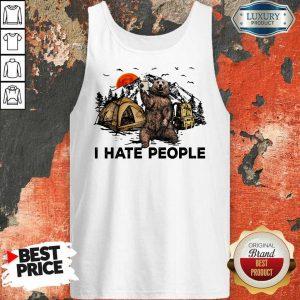 I Hate People Bear Camping Tank Top
