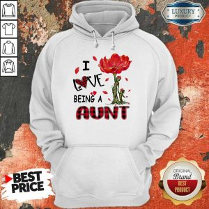 I Love Being An Aunt Red Flower Hoodie