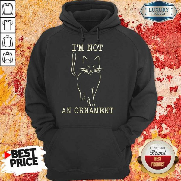 I'm Not An Ornament Cat Hoodie