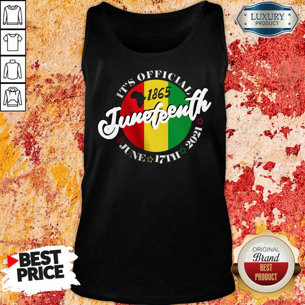 It Is Official 1865 Juneteenth African American Tank Top