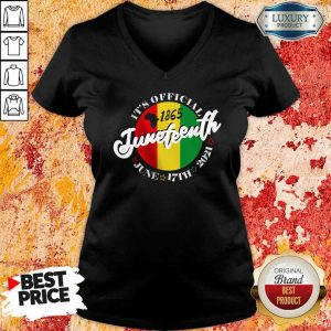 It Is Official 1865 Juneteenth African American V-Neck