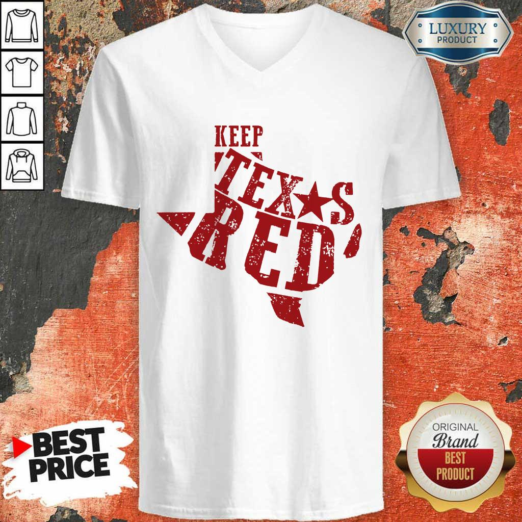 Keep Texas Red Chad Prather V-neck